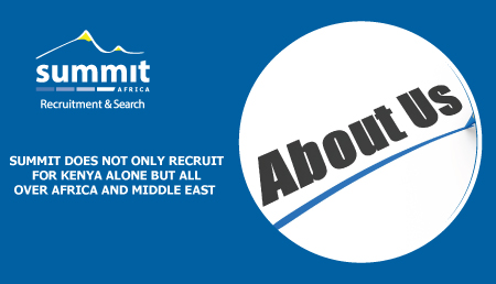 Something about Summit Recruitment  & Search Agency in Kenya