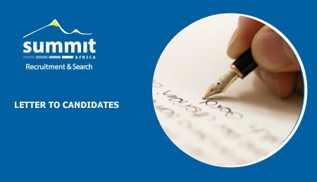 Letter To Candidates